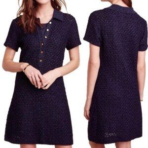 Anthropologie Moth Marin Crochet Sweater Dress XS